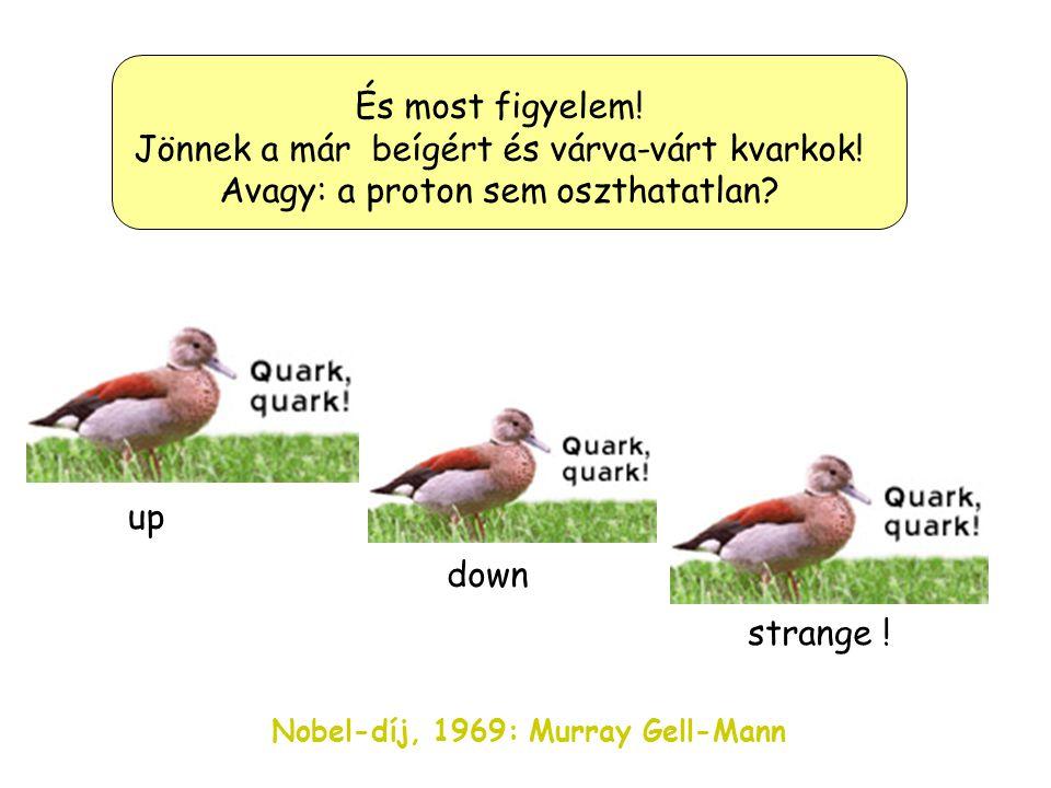 """Vajon melyikük is az igazán """"elemi"""" ebben a káoszban? A megoldást Mr. Gell-Mann találja meg (1963) és Nobel díjat kap érte (1969) És a tudós vívódása…"""