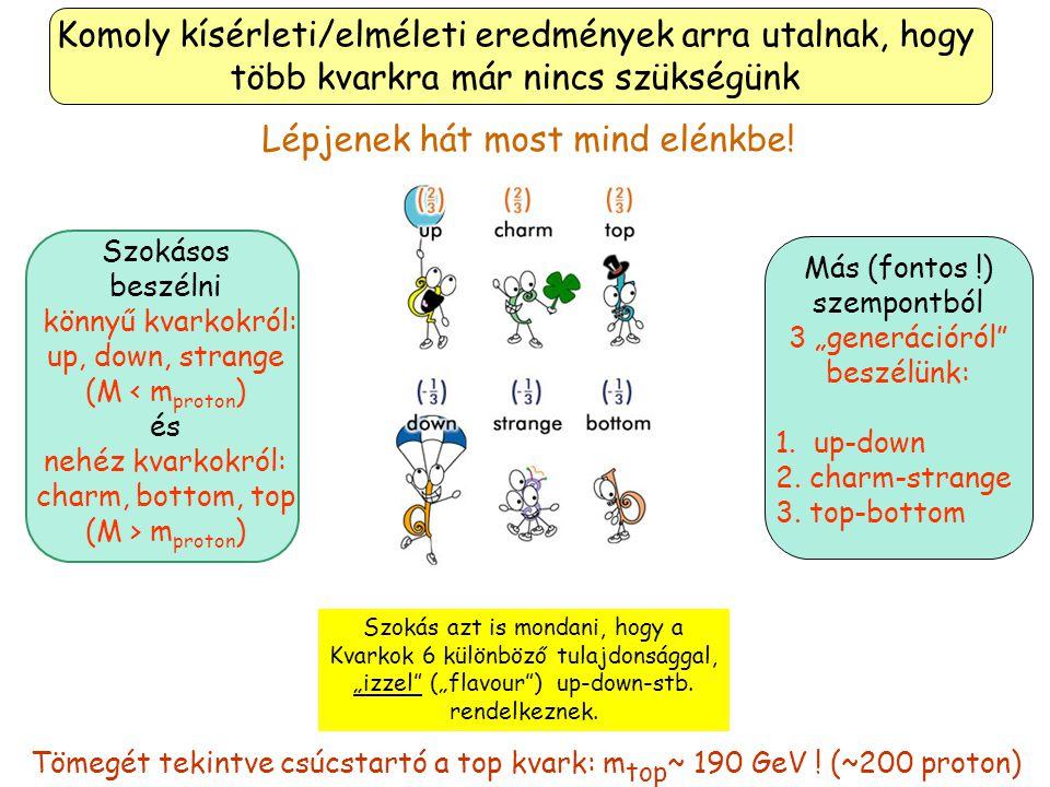 Nem csigázom tovább az érdeklődést, röviden elárulom, hogy a kutatók még 2 (nehéz) kvarkot fedeztek el. Ők a Bottom és a Top Kvarkok