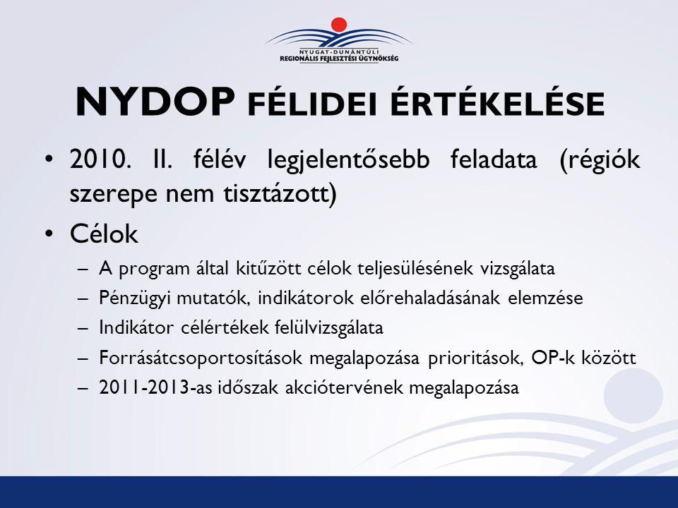 NYDOP FÉLIDEI ÉRTÉKELÉSE 2010. II.