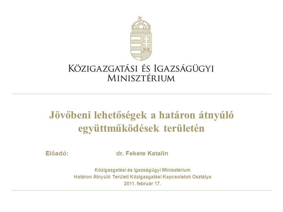 2 Új lehetőség – Európai Területi Társulás (ETT) Az EGTC a helyi, nemzeti szereplők határon átnyúló együttműködéseinek kíván szabályozott keretet, jogi személyiséget és jogképességet adni A területi együttműködések nem voltak hatékonyan megvalósíthatóak a szabályozás hiánya, az eltérő tagállami szabályozás miatt A Régiók Bizottsága kezdeményezésére ezért az Európai Parlament és Tanács 2006.