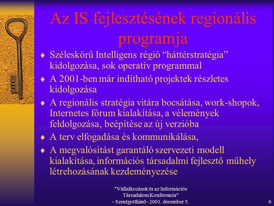 Vállalkozások és az Információs Társadalom Konferencia - Szentgotthárd - 2001.