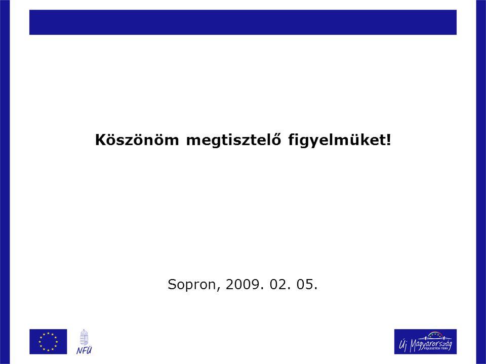 Köszönöm megtisztelő figyelmüket! Sopron, 2009. 02. 05.