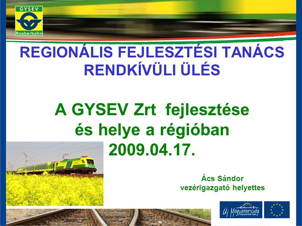 Vasúti pályahálózati stratégia - a GYSEV Zrt.