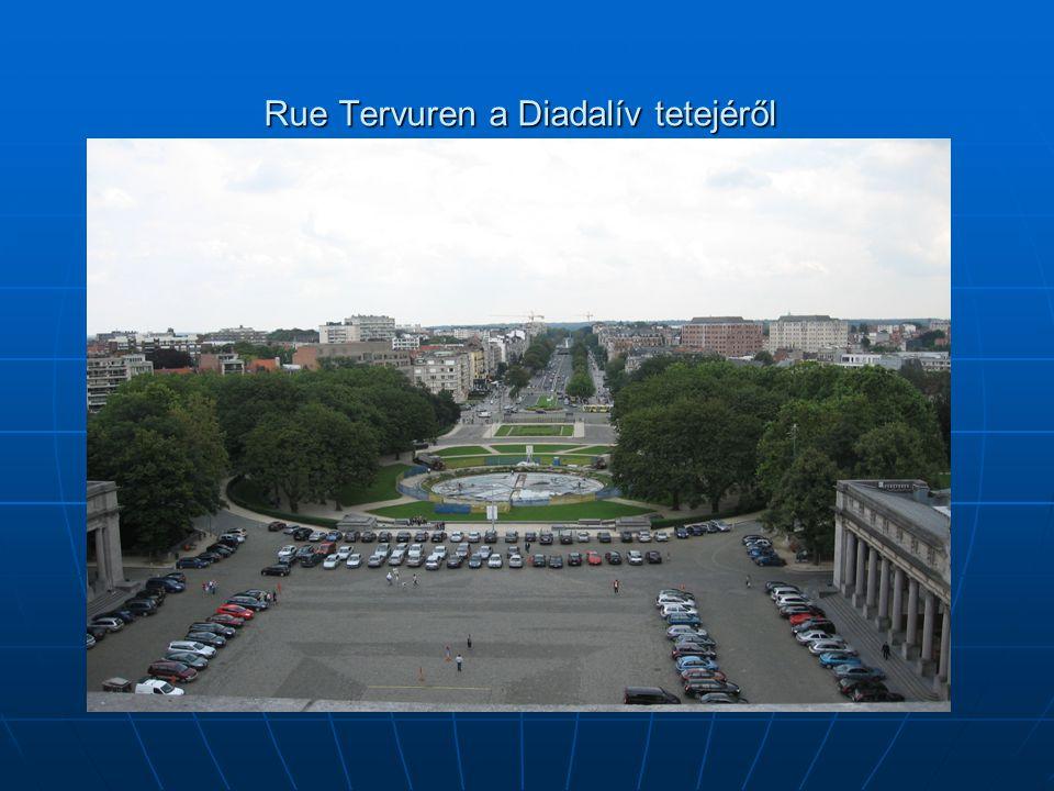Rue Tervuren a Diadalív tetejéről