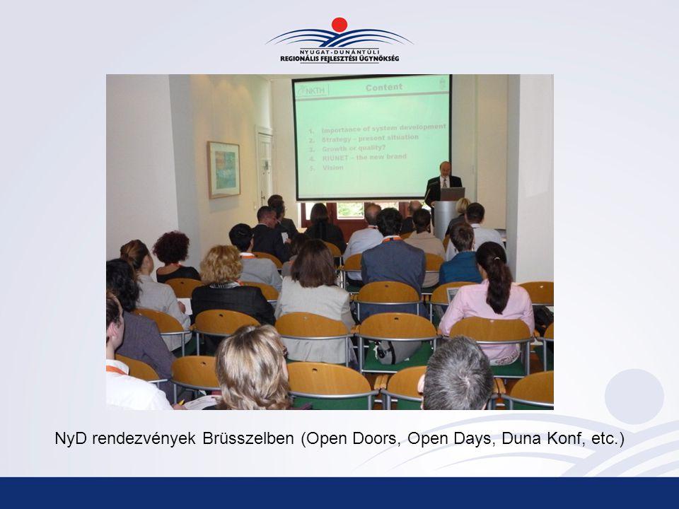 NyD rendezvények Brüsszelben (Open Doors, Open Days, Duna Konf, etc.)