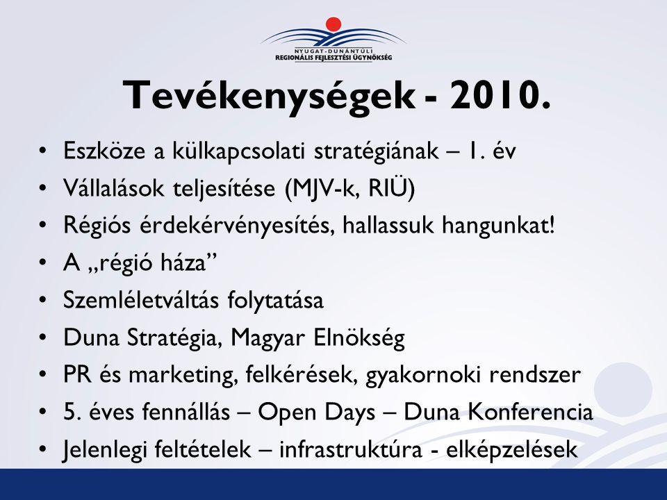 Tevékenységek - 2010.Eszköze a külkapcsolati stratégiának – 1.