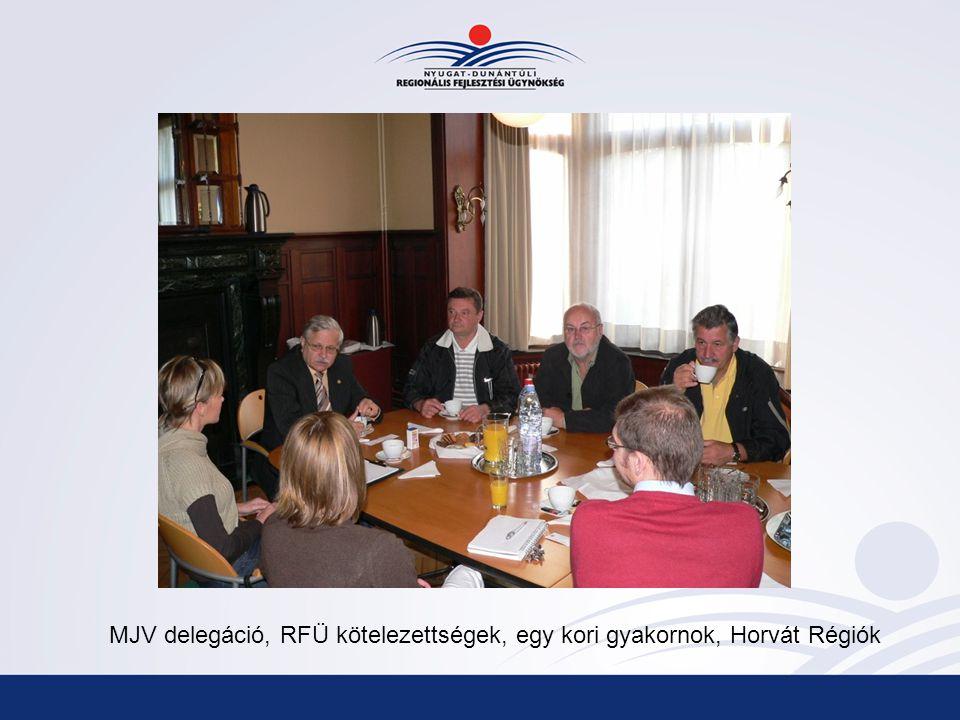 MJV delegáció, RFÜ kötelezettségek, egy kori gyakornok, Horvát Régiók