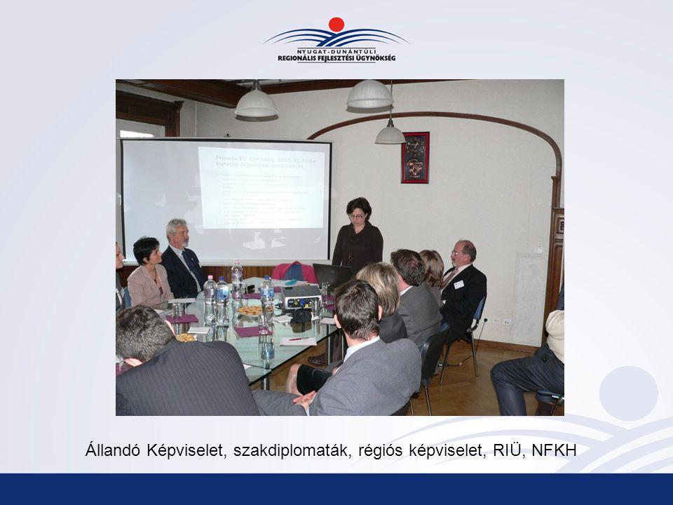 Állandó Képviselet, szakdiplomaták, régiós képviselet, RIÜ, NFKH
