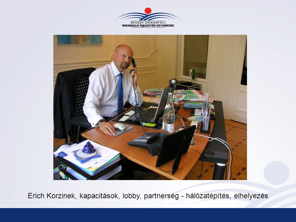 Erich Korzinek, kapacitások, lobby, partnerség - hálózatépítés, elhelyezés