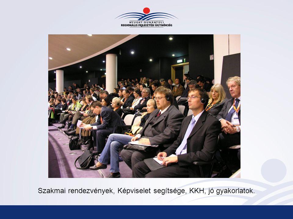 Szakmai rendezvények, Képviselet segítsége, KKH, jó gyakorlatok.