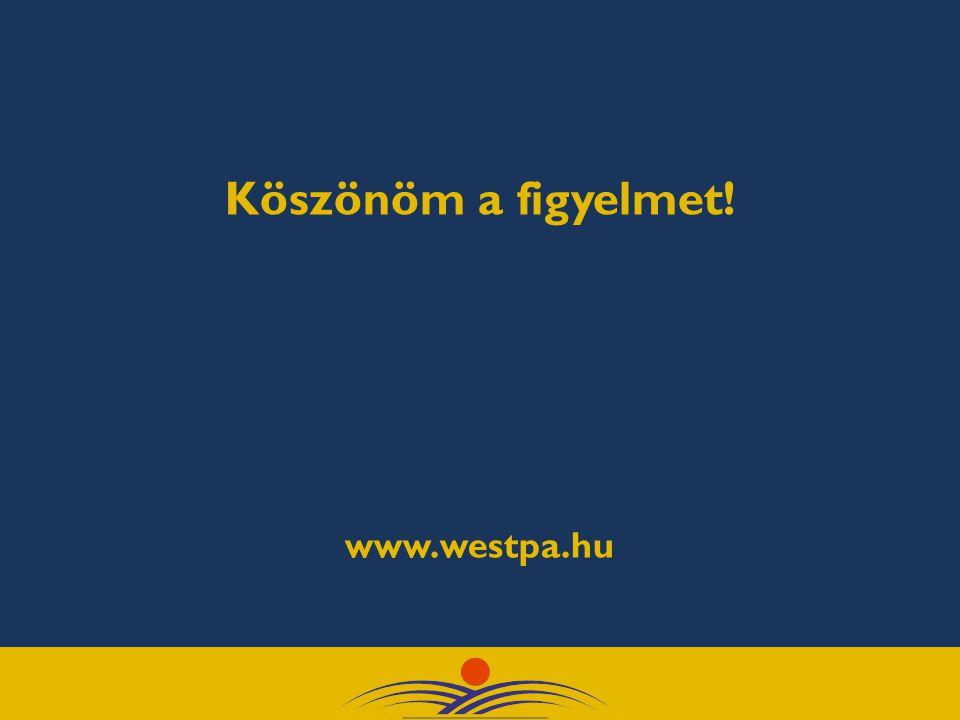 Köszönöm a figyelmet! www.westpa.hu