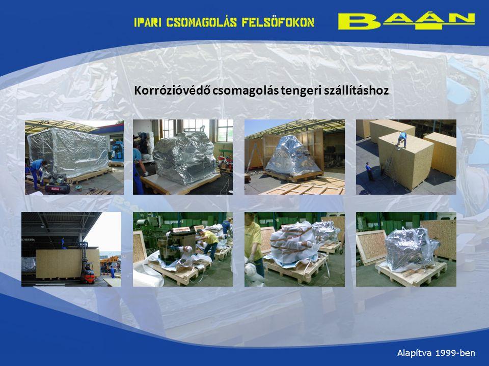 Korrózióvédő csomagolás tengeri szállításhoz