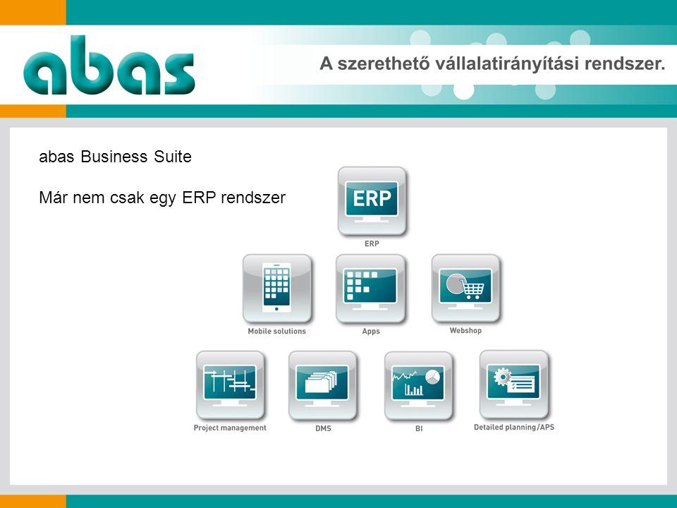 abas Business Suite Már nem csak egy ERP rendszer