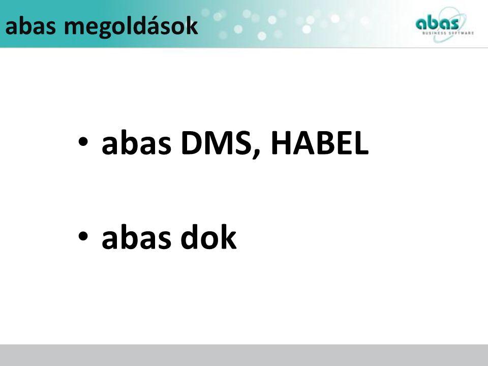 abas megoldások abas DMS, HABEL abas dok