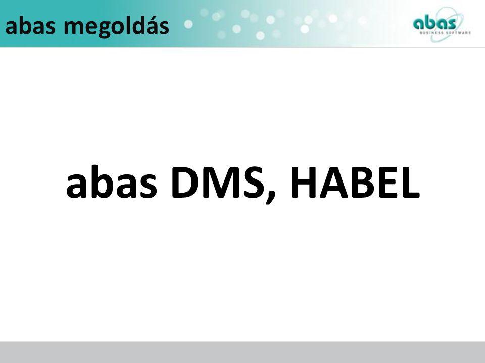 abas megoldás abas DMS, HABEL