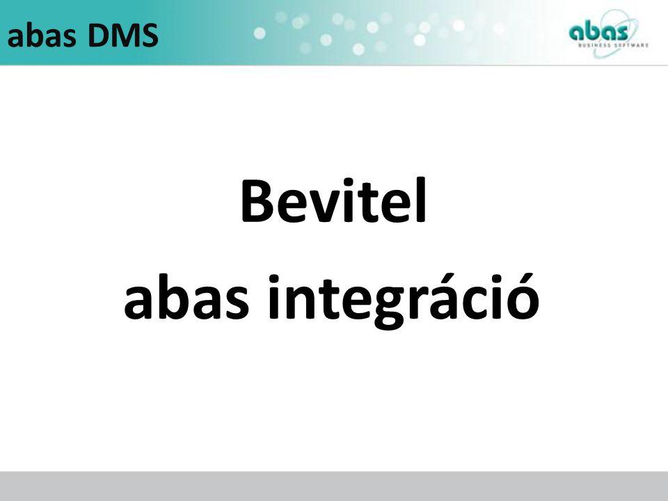abas DMS Bevitel abas integráció