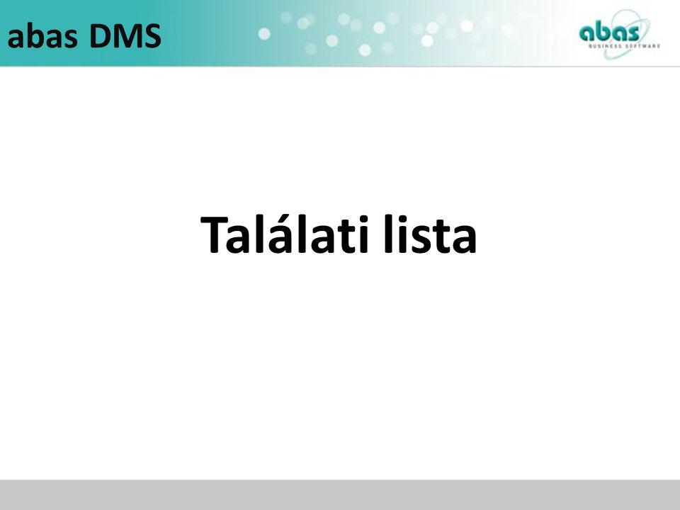 abas DMS Találati lista