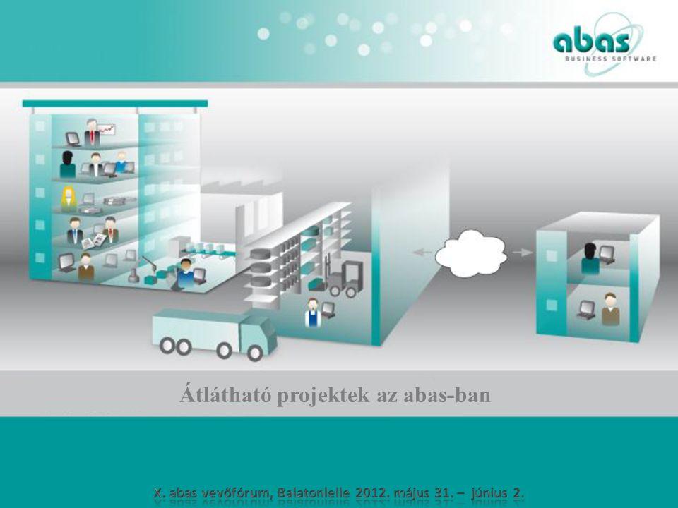 Átlátható projektek az abas-ban
