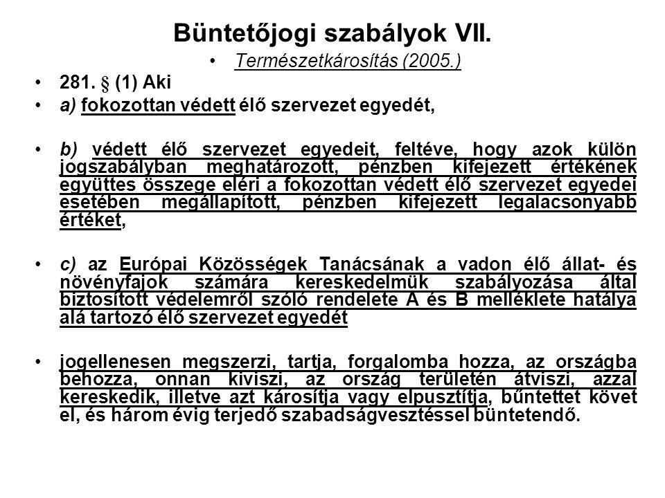 Büntetőjogi szabályok VI. A büntetés kiszabásának alapelve: A büntetés célja a társadalom védelme érdekében annak megelőzése, hogy akár az elkövető, a