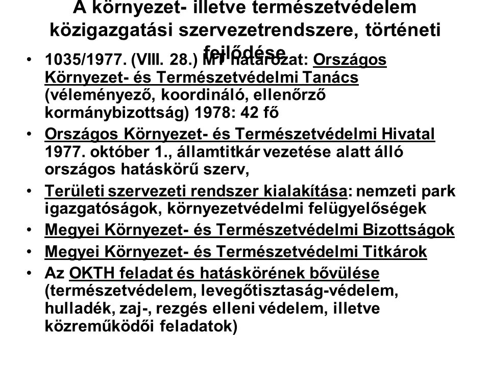 A környezet- illetve természetvédelem közigazgatási szervezetrendszere, történeti fejlődése 1910-es évek, Kaán Károly javaslata a természetvédelmi iga