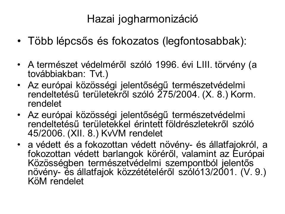 Élőhelyvédelmi irányelv Magyar javaslat: pannon sziklagyepek, pannon cseres-tölgyesek, pilisi len, tornai vértő, bánáti bazsarózsa, magyar tarsza, mag
