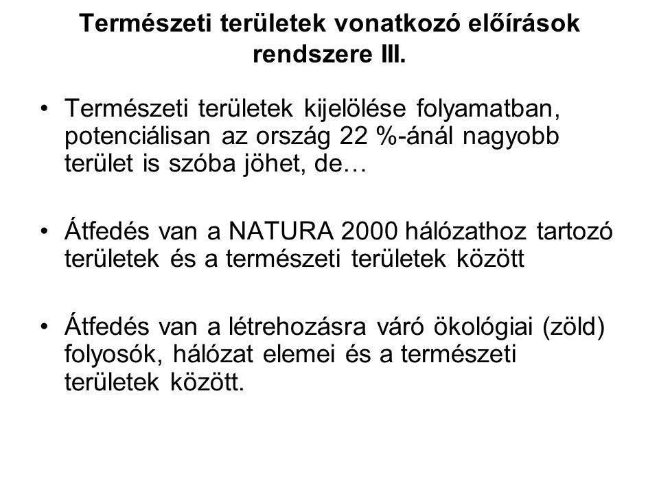 Természeti területek vonatkozó előírások rendszere II. Természetvédelmi szakhatósági közreműködési hatáskör érvényesítése –A tartalom folyamatosan és