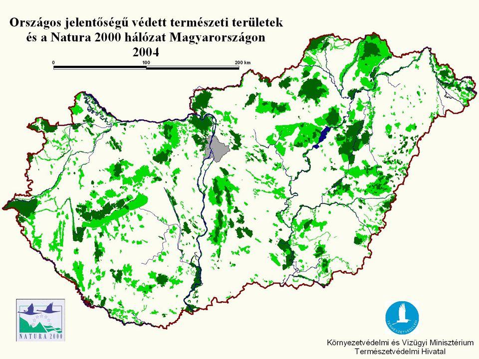 VÉDETT TERMÉSZETI TERÜLETEK * A táblázatban nem szerepeltetjük az ex lege védett természeti területeket, melyek felmérése még nem fejeződött be teljes