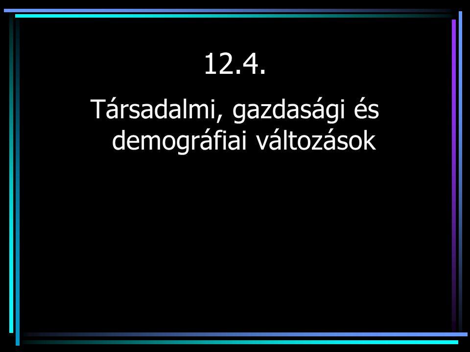 12.4. Társadalmi, gazdasági és demográfiai változások