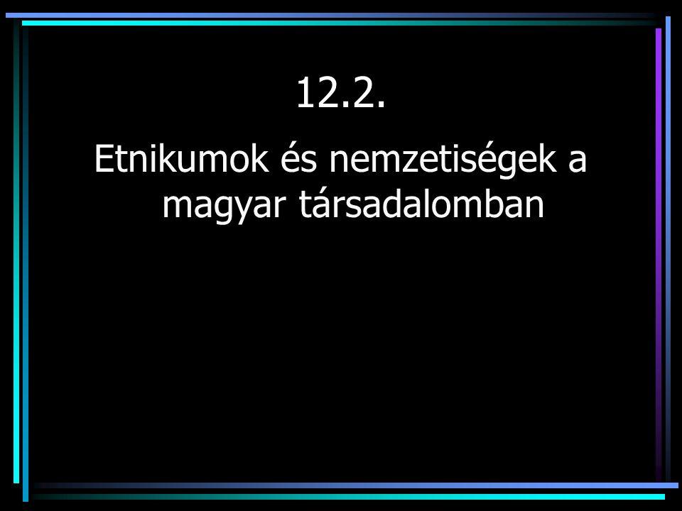 12.2. Etnikumok és nemzetiségek a magyar társadalomban