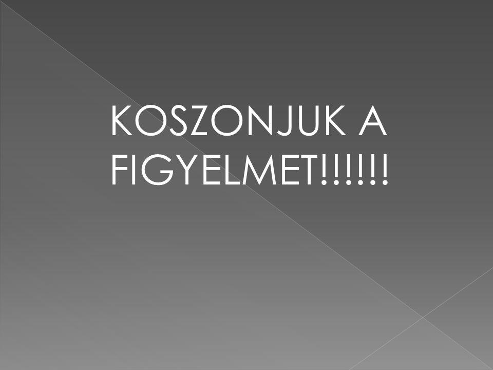 KOSZONJUK A FIGYELMET!!!!!!