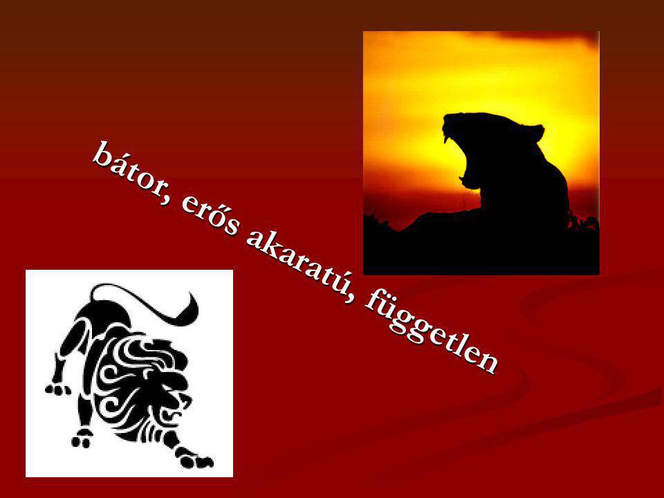 bátor, erős akaratú, független