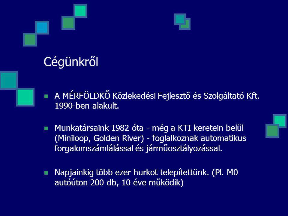 Cégünkről A MÉRFÖLDKŐ Közlekedési Fejlesztő és Szolgáltató Kft. 1990-ben alakult. Munkatársaink 1982 óta - még a KTI keretein belül (Miniloop, Golden