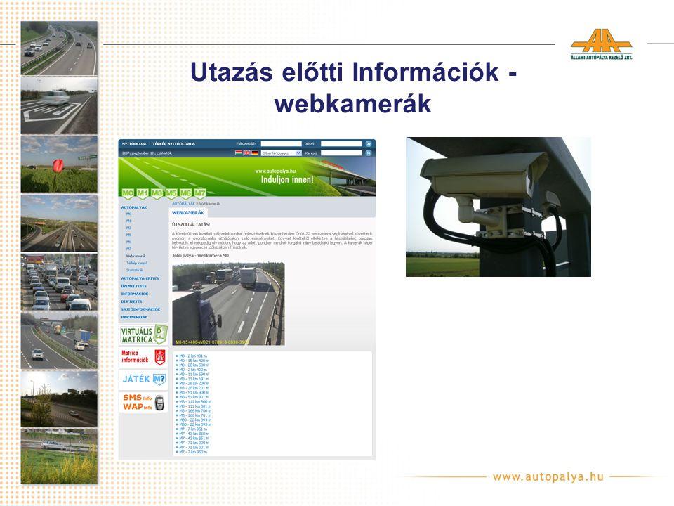 Utazás előtti Információk - webkamerák