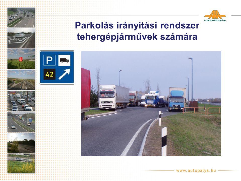 Parkolás irányítási rendszer tehergépjárművek számára