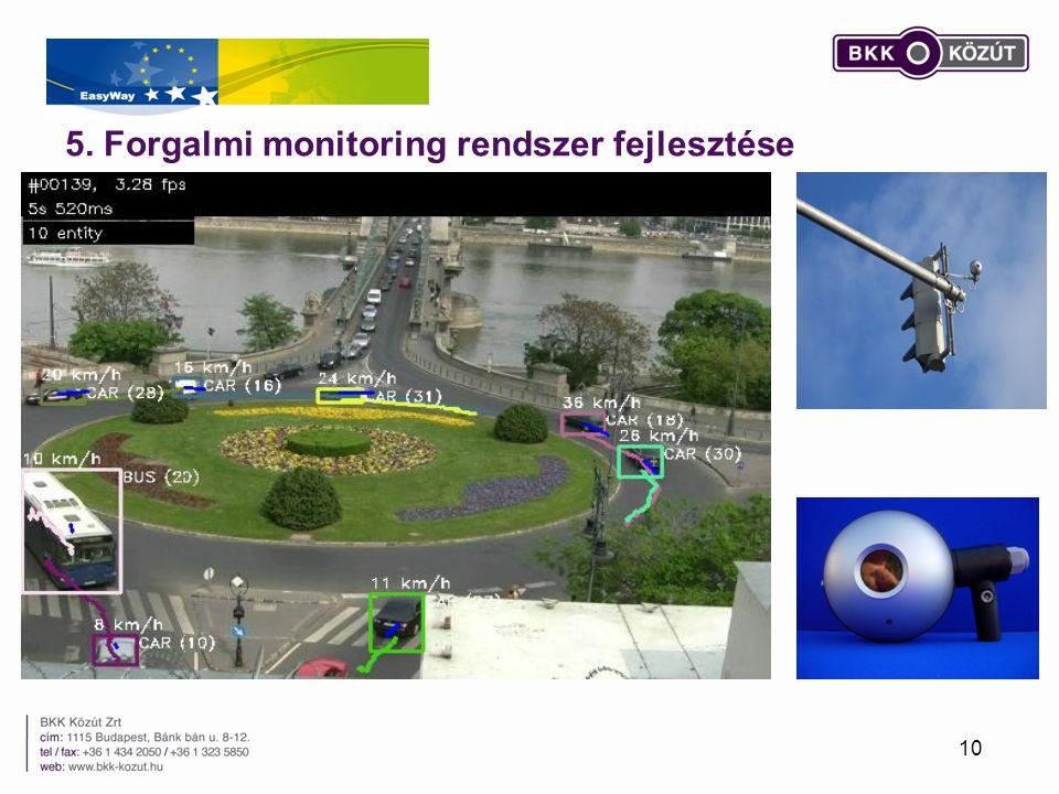5. Forgalmi monitoring rendszer fejlesztése 10