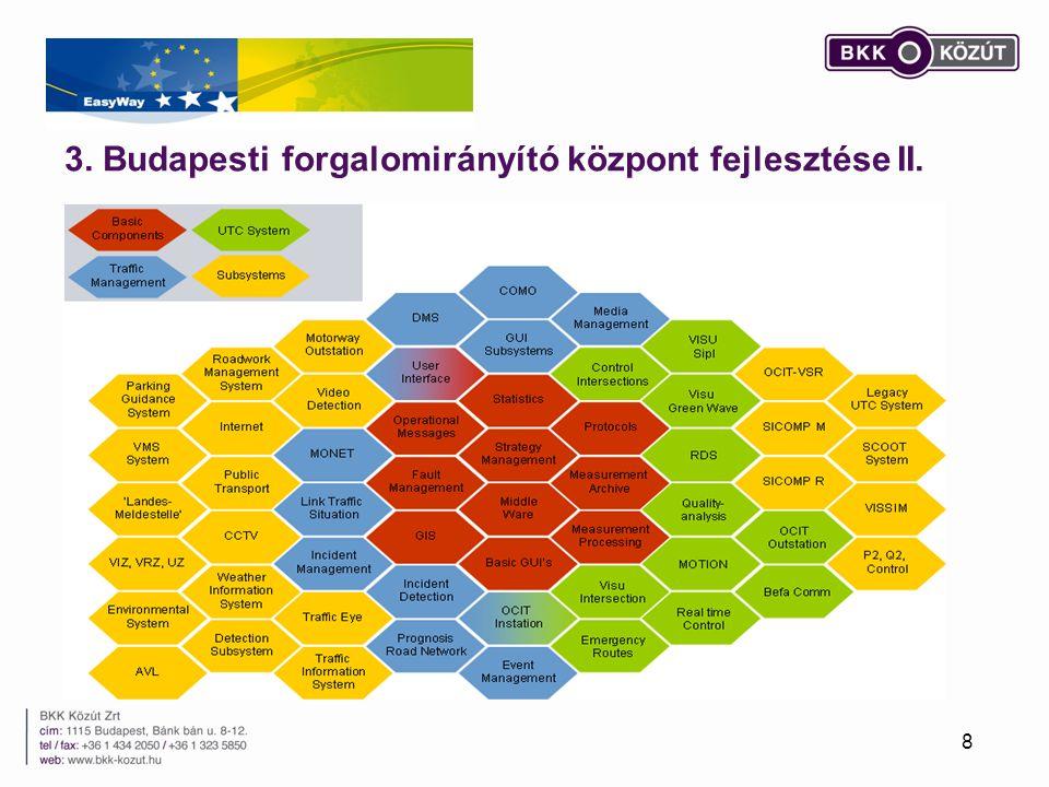 3. Budapesti forgalomirányító központ fejlesztése II. 8
