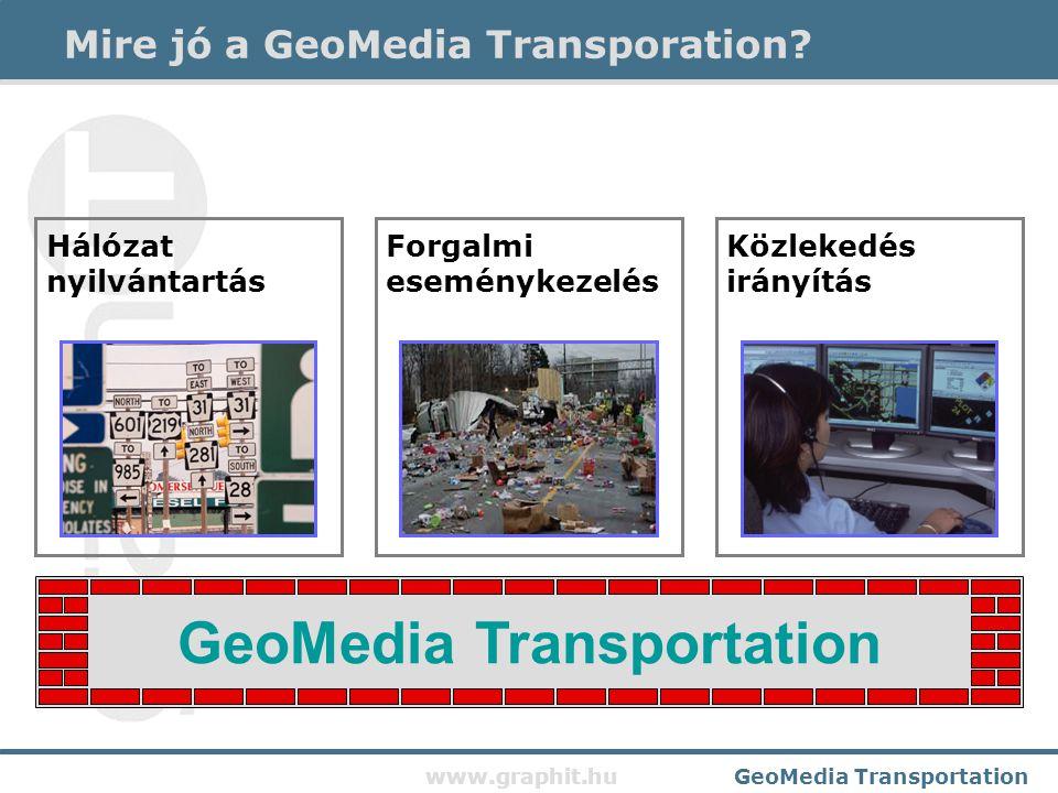 www.graphit.huGeoMedia Transportation Mire jó a GeoMedia Transporation.