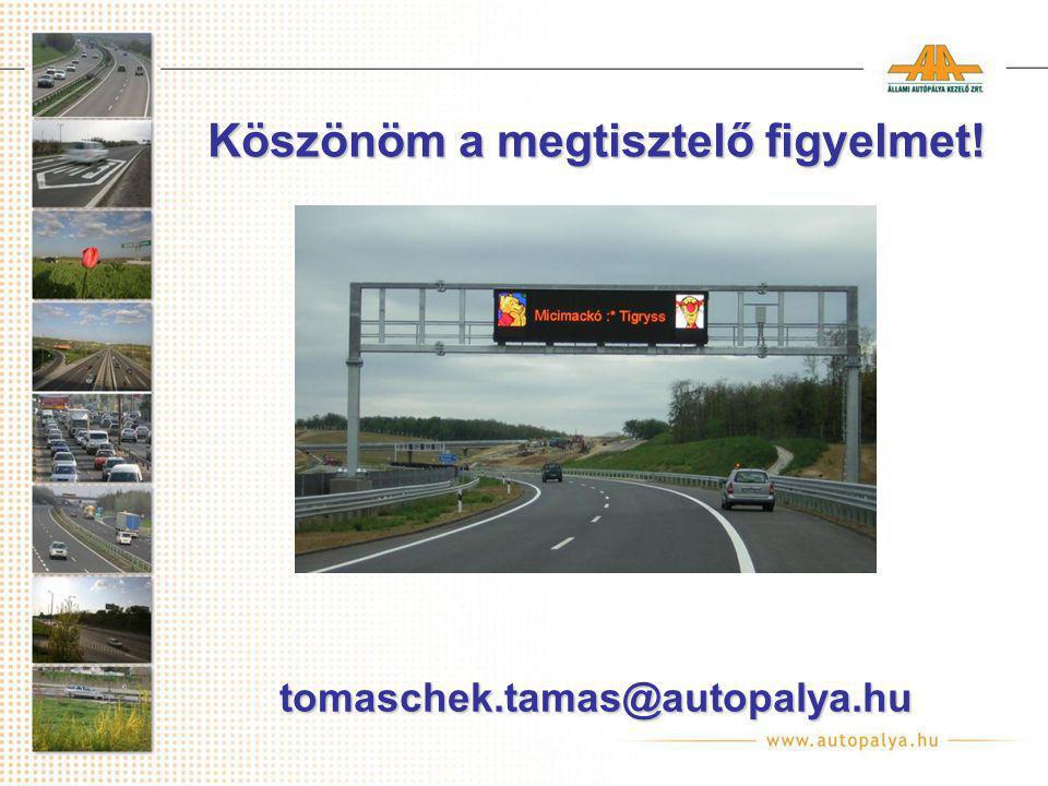 Köszönöm a megtisztelő figyelmet! tomaschek.tamas@autopalya.hu