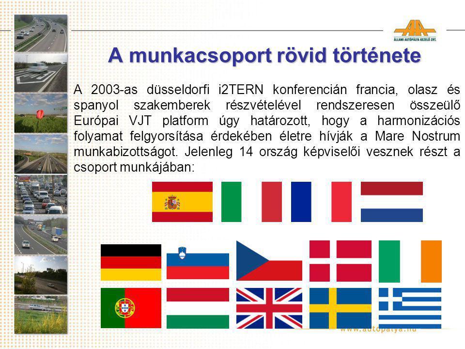 A munkacsoport rövid története A 2003-as düsseldorfi i2TERN konferencián francia, olasz és spanyol szakemberek részvételével rendszeresen összeülő Európai VJT platform úgy határozott, hogy a harmonizációs folyamat felgyorsítása érdekében életre hívják a Mare Nostrum munkabizottságot.