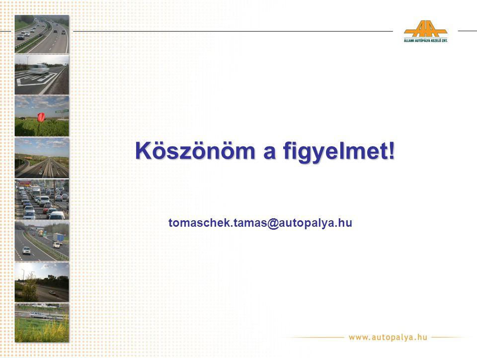 Köszönöm a figyelmet! tomaschek.tamas@autopalya.hu