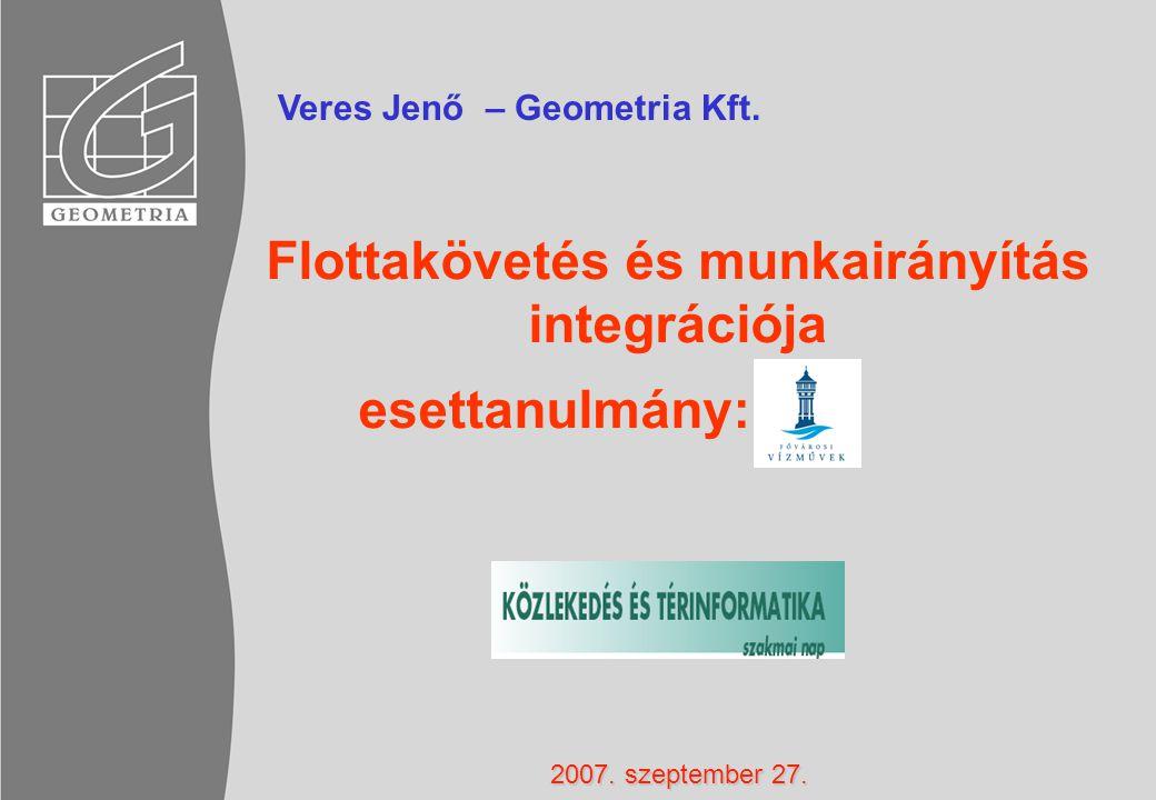 Flottakövetés és munkairányítás integrációja esettanulmány: Veres Jenő – Geometria Kft.