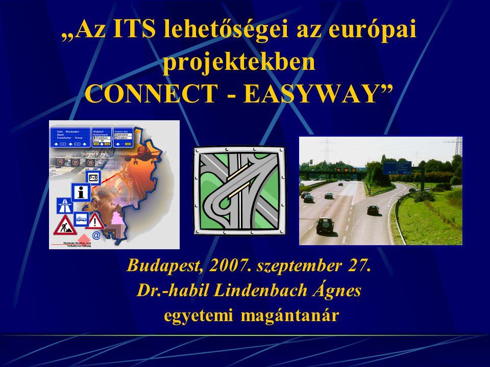 """""""Az ITS lehetőségei az európai projektekben CONNECT - EASYWAY Budapest, 2007."""