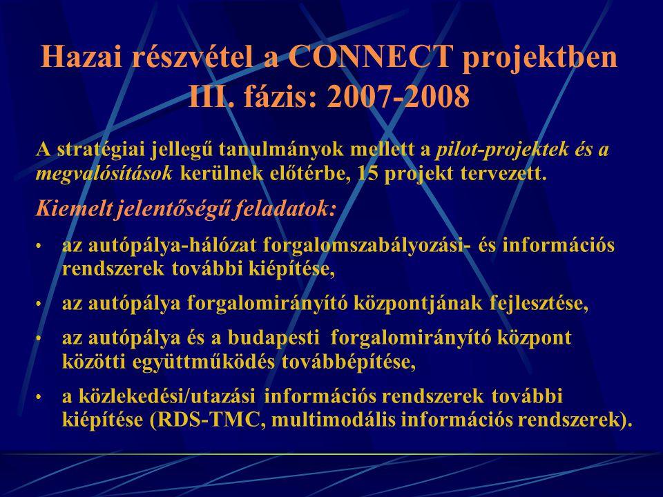 A stratégiai jellegű tanulmányok mellett a pilot-projektek és a megvalósítások kerülnek előtérbe, 15 projekt tervezett.