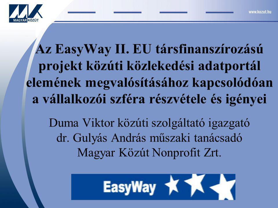 Miért az ITS Hungary keretében Az állami és a vállalkozói szféra közötti kapcsolatban fontos a társadalmi szervezet szerepe.