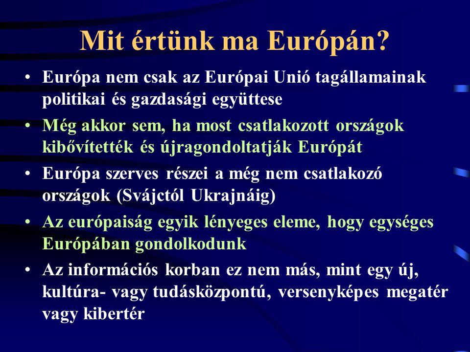 Mit értünk ma Európán.