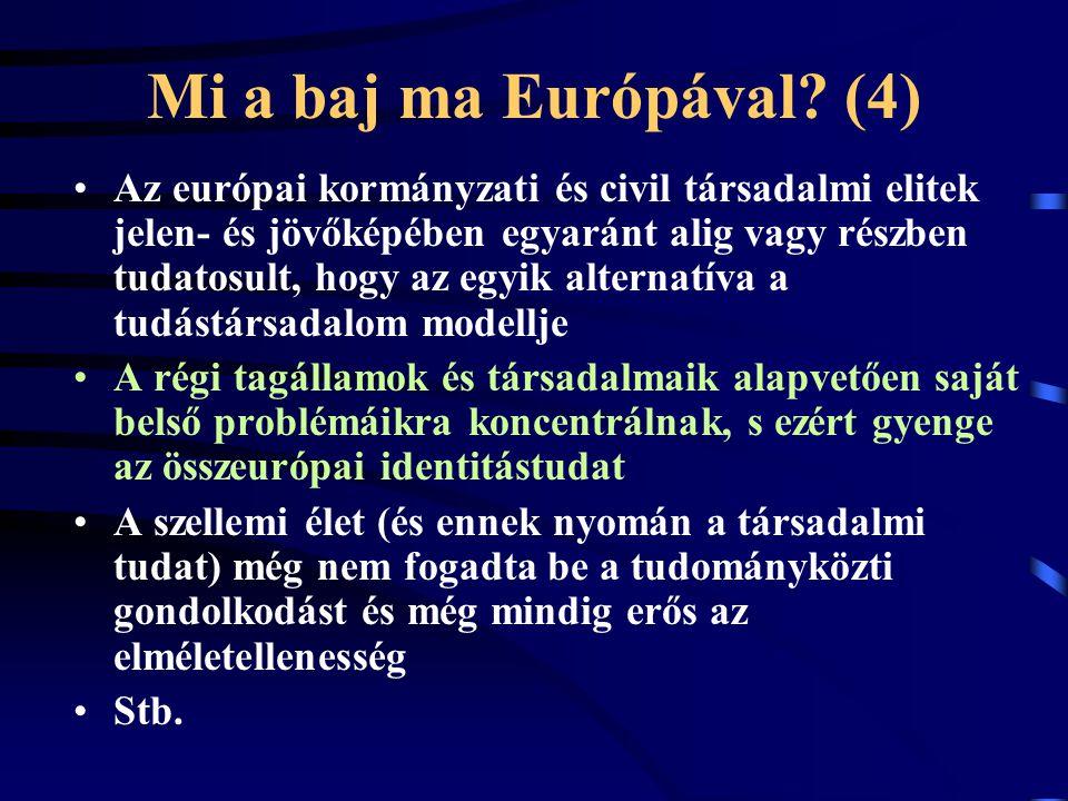 Mi a baj ma Európával.