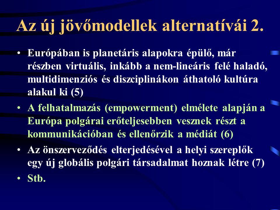 Az új jövőmodellek alternatívái 2.