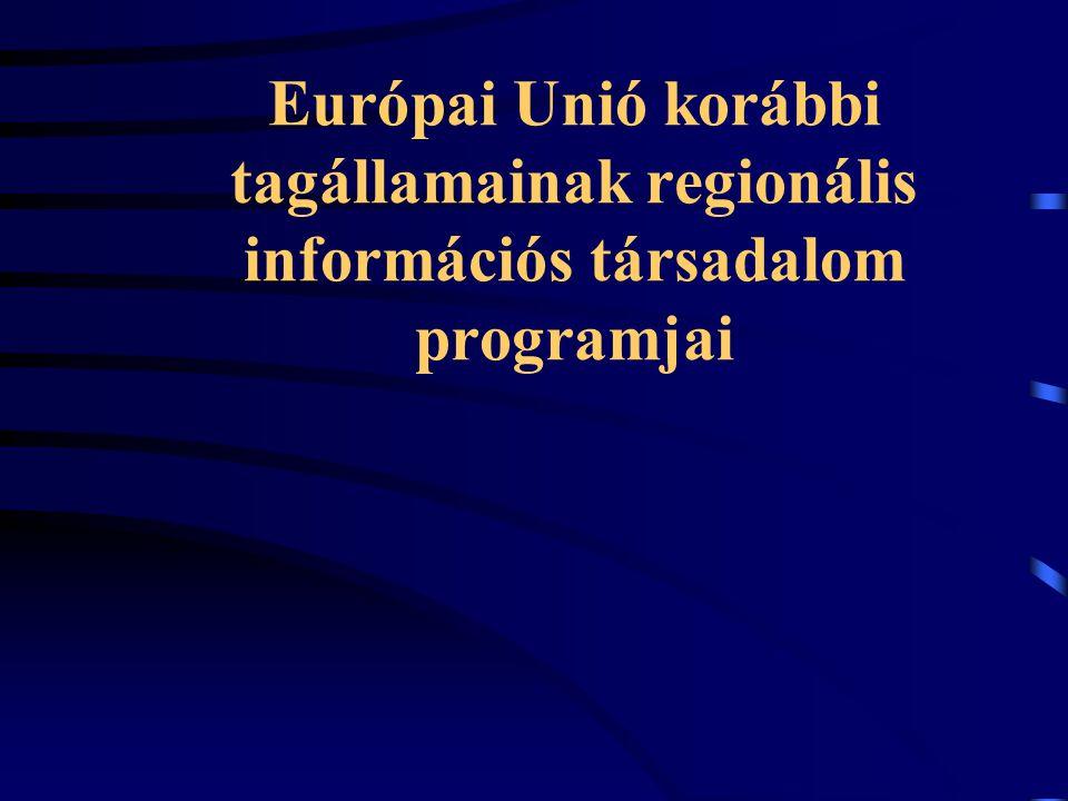 Európai Unió korábbi tagállamainak regionális információs társadalom programjai