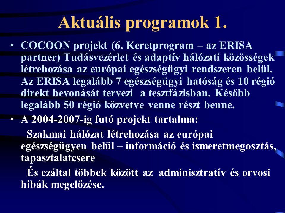 Aktuális programok 1.COCOON projekt (6.
