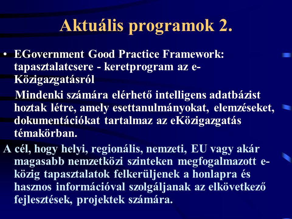 Aktuális programok 2.